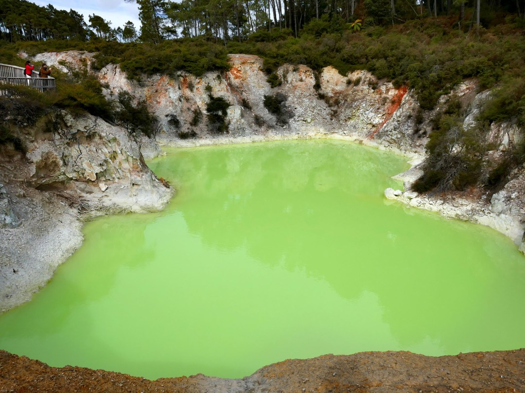 Opal lake at Waiotapu Geothermal Park near Rotorua New Zealand for boomervoice