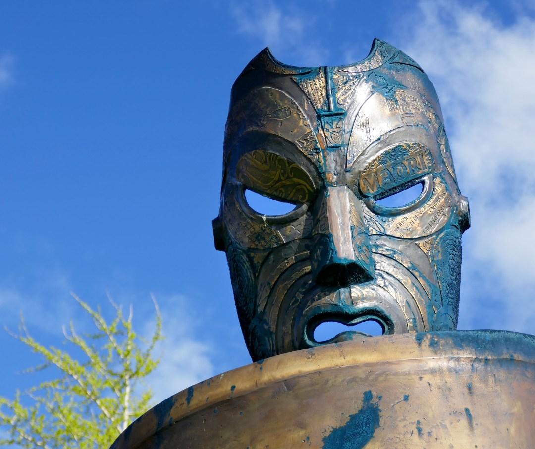 Sculpture closeup in Rotorua for boomervoicejpg