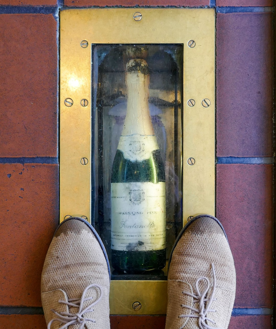 Wine in floor at Mission Estates in Napier New Zealand for boomervoice