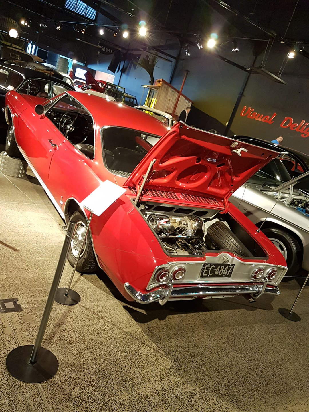 Chevrolet Corvair trunk at WOW Classic Cars for boomervoice