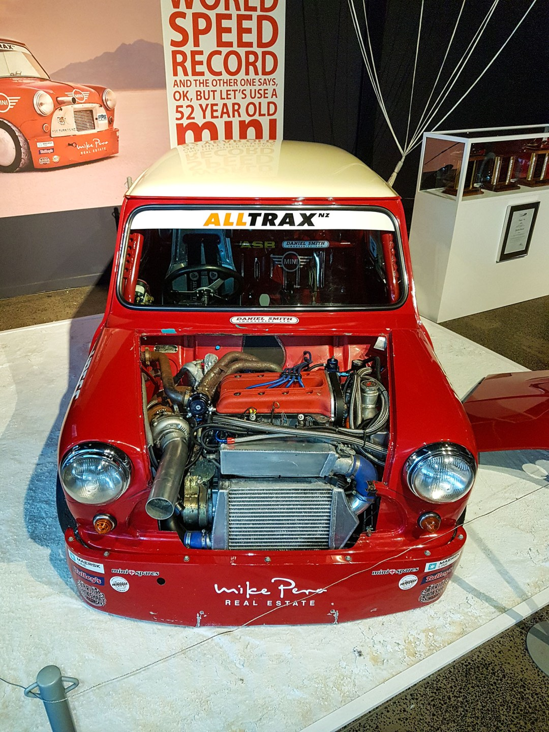 Land Speed Record Mini front at WOW Classic Cars for boomervoice