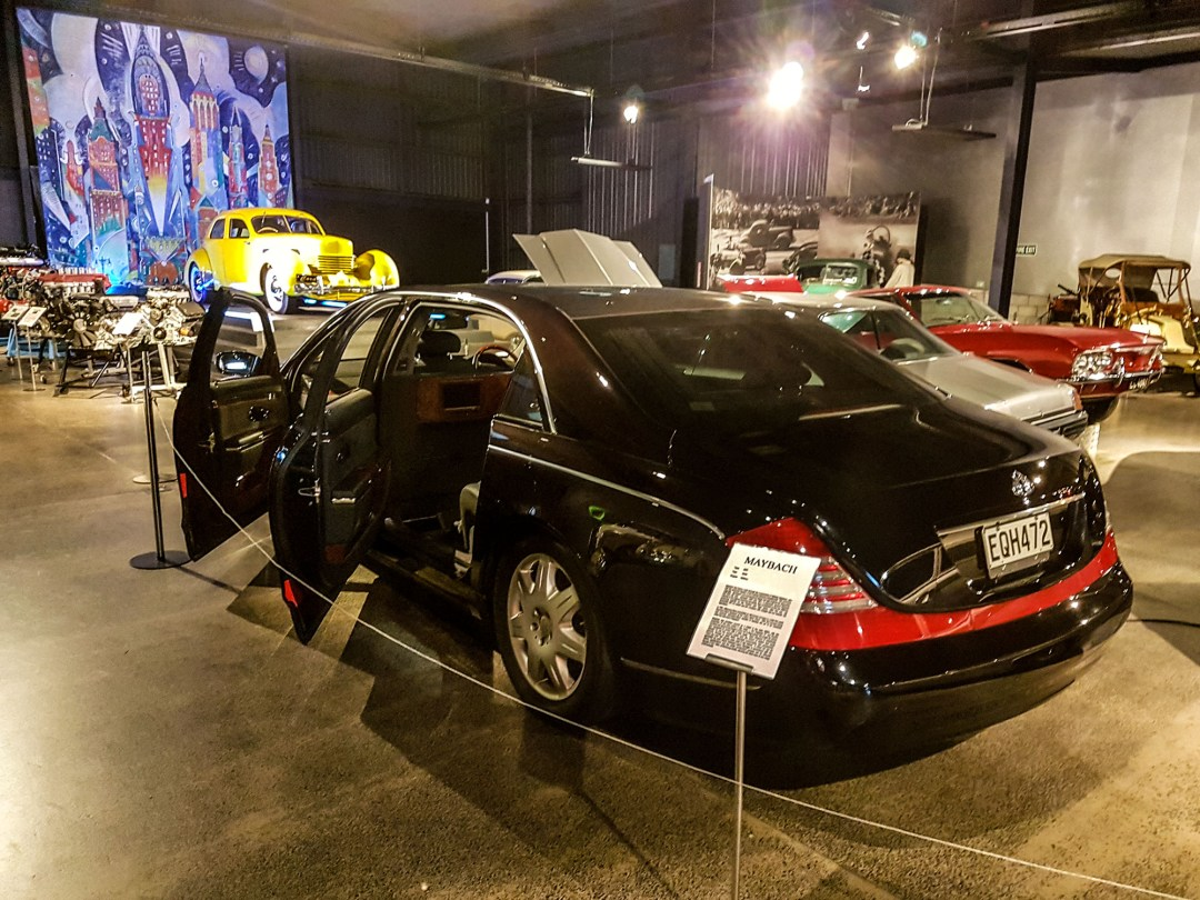 Maybach rear at WOW Classic Cars for boomervoice