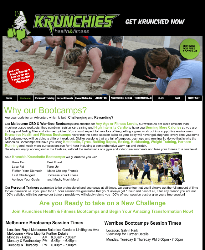 krunchies health and fitness
