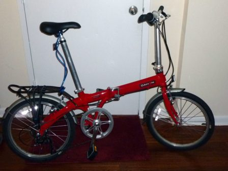 My folding commuter bike