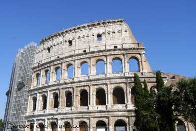 I got more views of scaffolding at the Colosseum