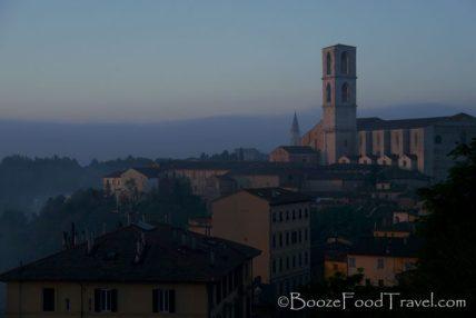 Early morning sun shining on St. Domenico Basilica