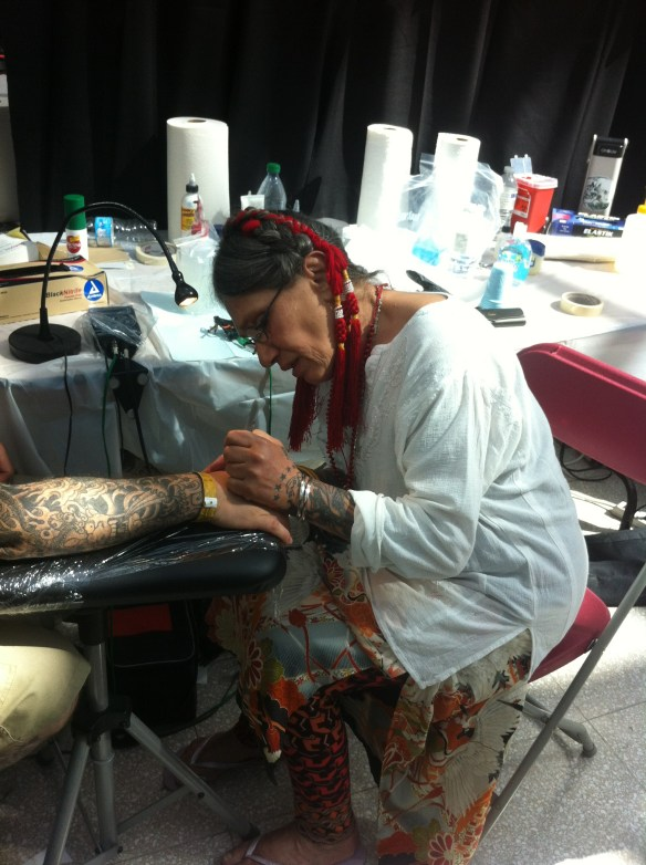 Loretta at work in Montreal, 2013
