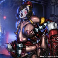 Busty Moxxi ride on fat boner