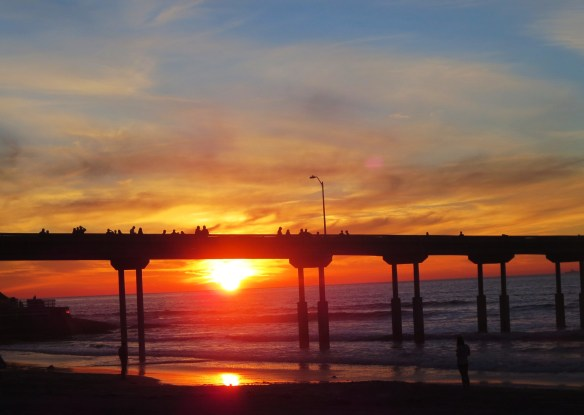 OB pier at Sunset