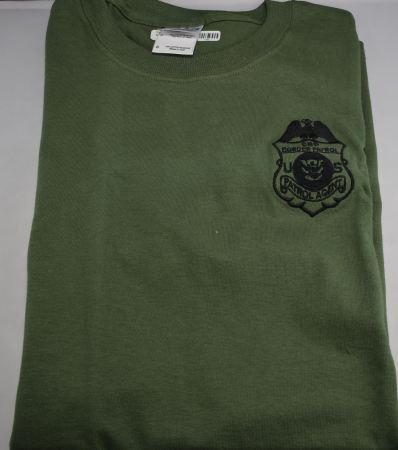 Raid T - CBP Badge Military Gre - Adult Clothing