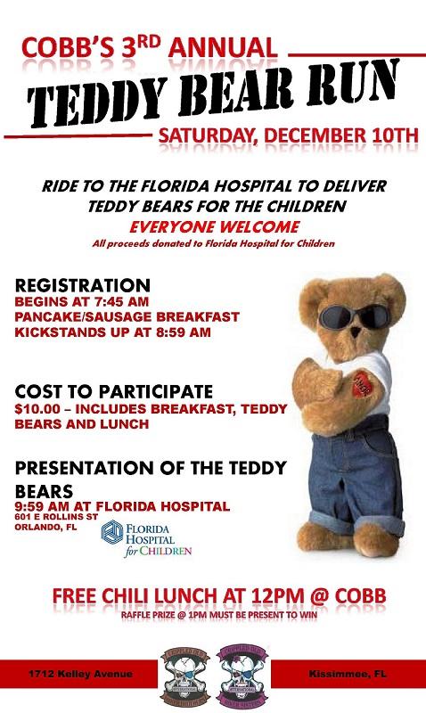 COBB's 3rd Annual Teddy Bear Run