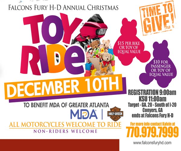 Falcons Fury H-D Annual Christmas Toy Ride