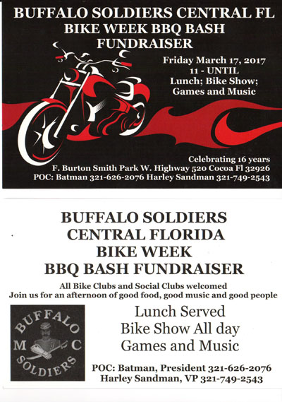 Buffalo Soldier's M/C Central Florida Bike Week BBQ Bash Fundraiser