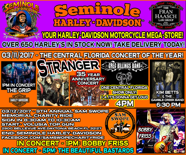 Seminole Harley-Davidson Bike Week Celebration