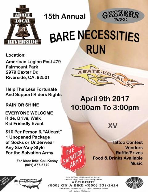 15th Annual Bare Necessities Run