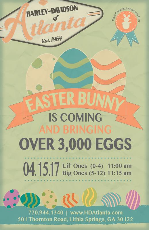 Easter Bunny Hops into Harley-Davidson of Atlanta