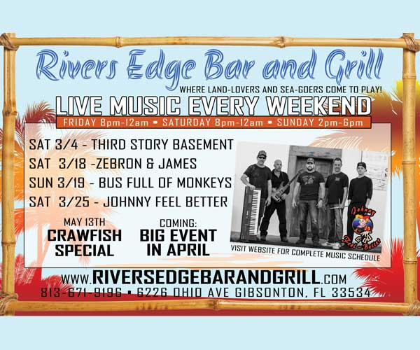 Rivers Edge Bar and Grill Crawfish Special