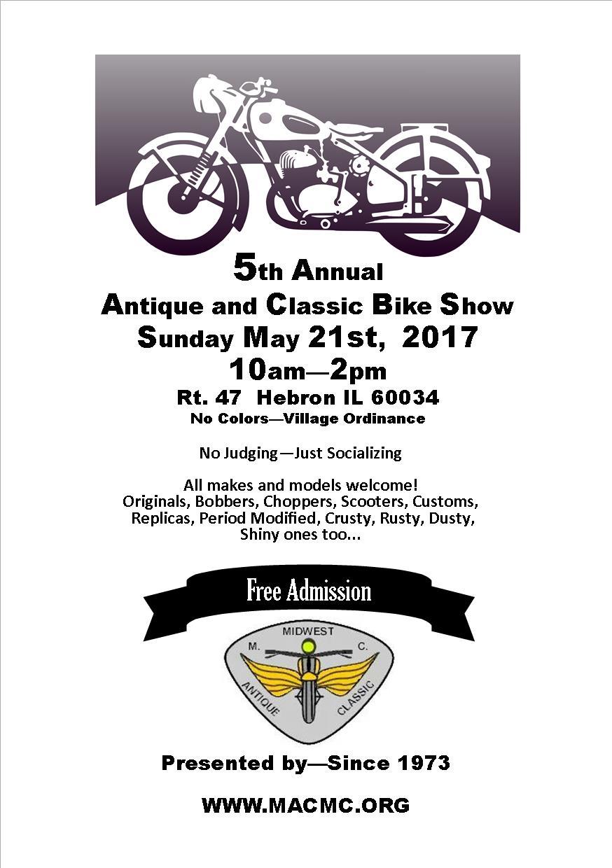 MACMC 5th Annual Classic Bike Show