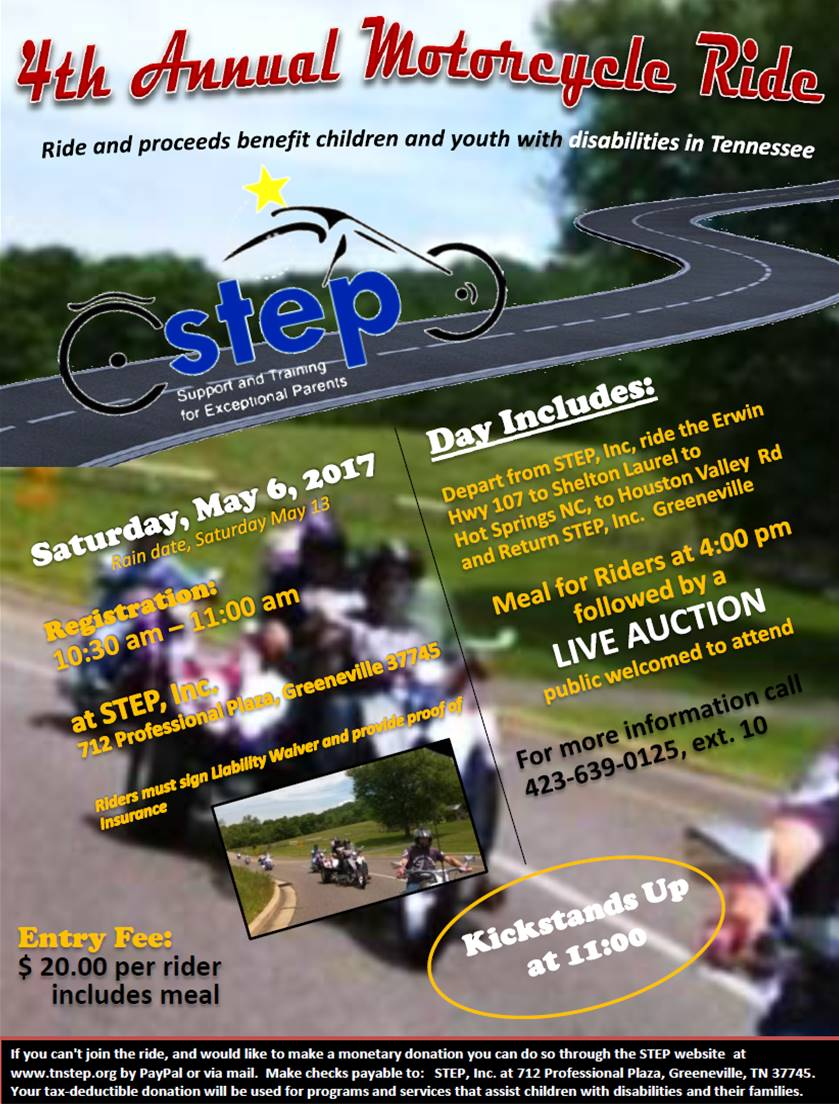 Fourth Annual Motorcycle Ride and Live Auction to Benefit Children with Disabilities