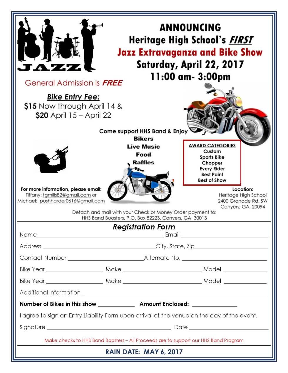 Jazz Extravaganza  Bike Show Flyer - option 2c