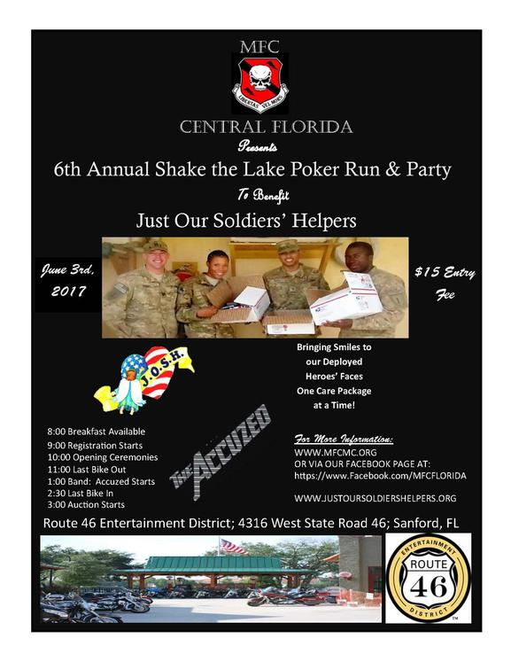 6th Annual Shake the Lake Poker Run and Party presented by MFC Central Florida