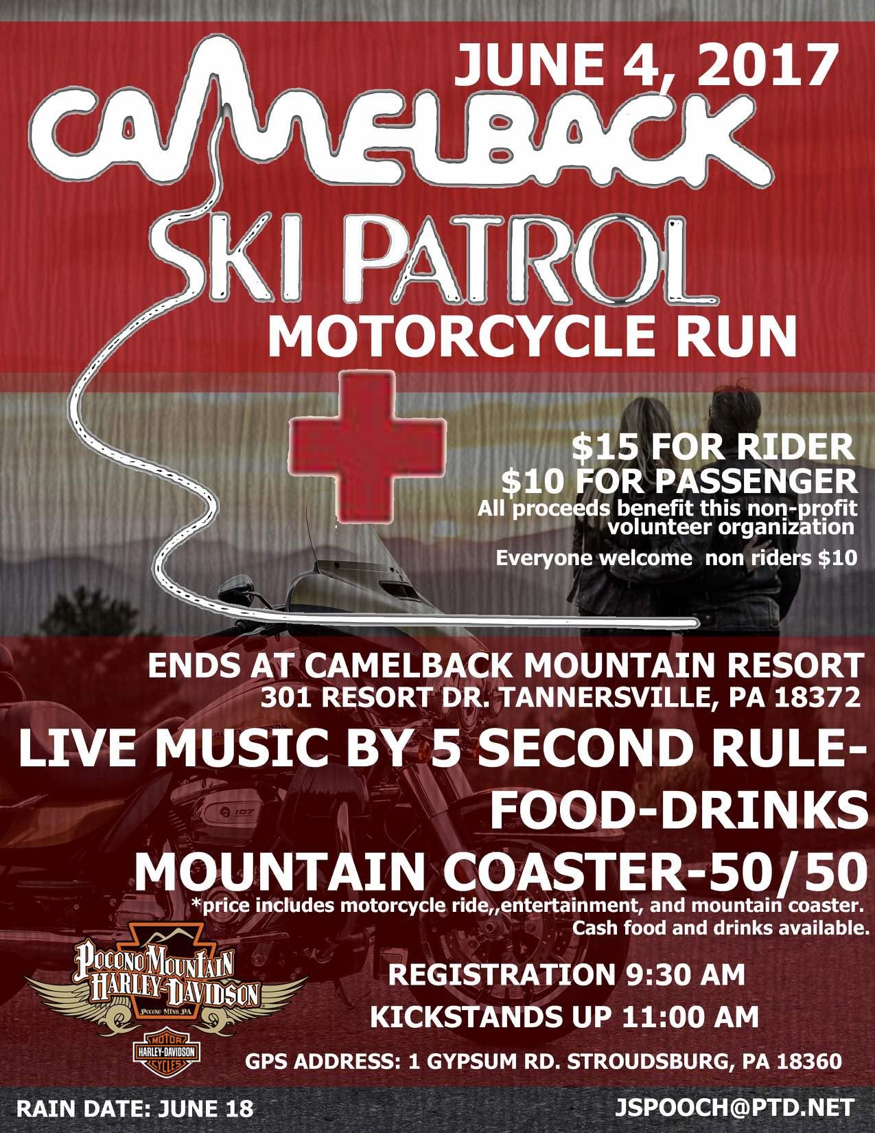 Camelback Ski Patrol Motorcycle Run