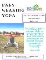 Baby Wearing Yoga Class