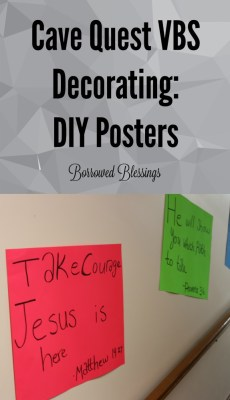 Cave Quest Decorations - DIY Posters - BorrowedBlessings.net