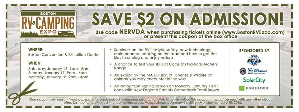 Boston RV EXPO Discount Coupon