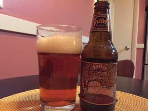 Founders Brewing Company Azaaca IPA poured into nonic pint glass.