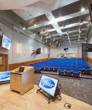 Acentech_Pfizer Auditorium_Photo credit WoodruffBrown Architectural Photography