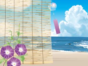 海,朝顔,風鈴