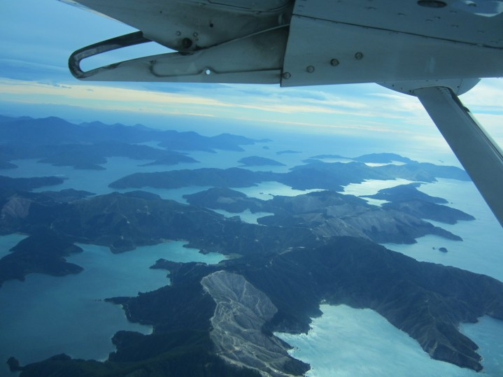 Marlborough Sounds from overhead