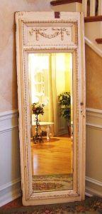 mirror glued to old door framee