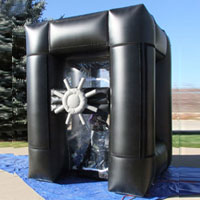 Black Velcro Inflatable Cash Machine