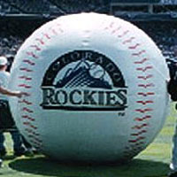Colorado Rockies Baseball Inflatable