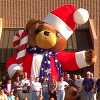 Furry Santa Bear Inflatable