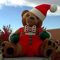 Furry Santa Bear Inflatable 2