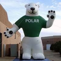 Polar Bear Inflatable Character