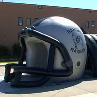 Randall Raiders Inflatable Football Helmet Tunnel