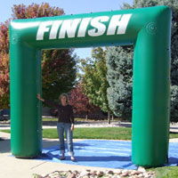 Finish Green Inflatable Race Arch