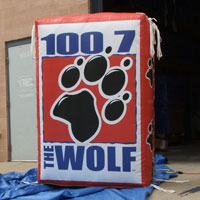 1007 The Wolf Radio Inflatable Billboard