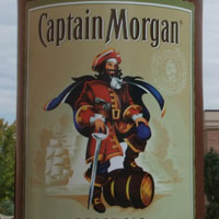 Captain Morgan Inflatable Bottle