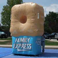 Family Express Donut Inflatable Football Toss
