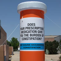 Pill Bottle Inflatable