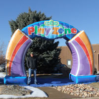 Sesame Street Play Zone Inflatable Archway
