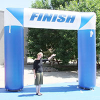 Blue White 90 Finish Inflatable Arch
