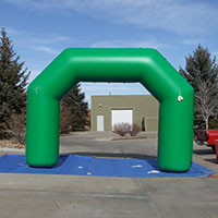 Fieldwork Events 45 Green Inflatable Arch