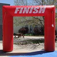 Red 90 Finish Inflatable Arch