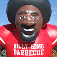 Billy Sims Barbecue Inflatable Character
